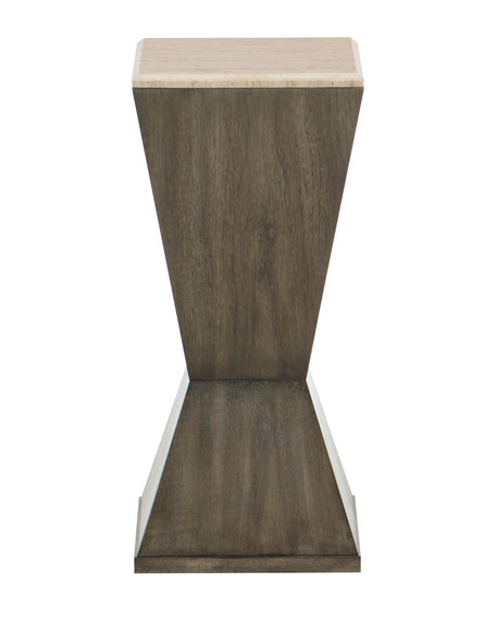 Profile Stone-Top Accent Table