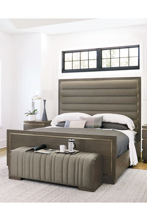 Bernhardt Profile Channel Tufted King Bed