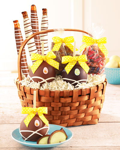 Easter Caramel Apple Gift Basket