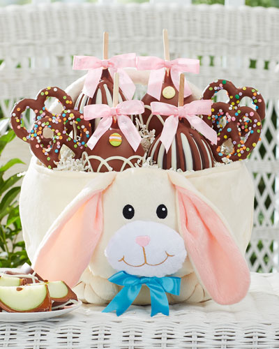 Flopsy Easter Bunny Caramel Apple Gift Basket