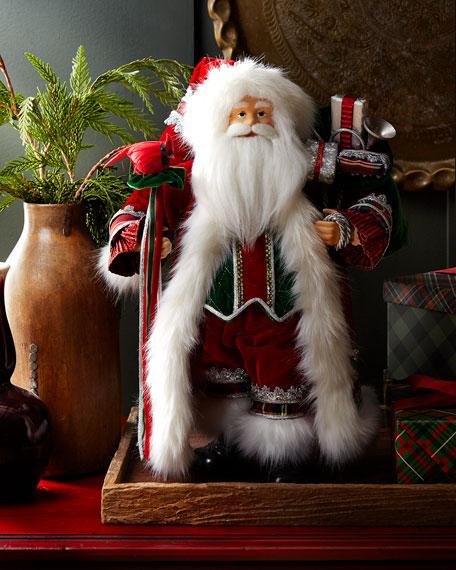 "Classic Handmade Christmas Santa, 18"""