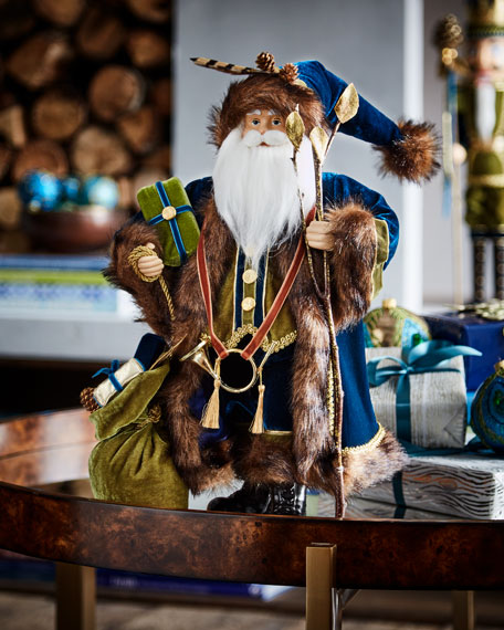 Woodlands Santa Figure, 18""