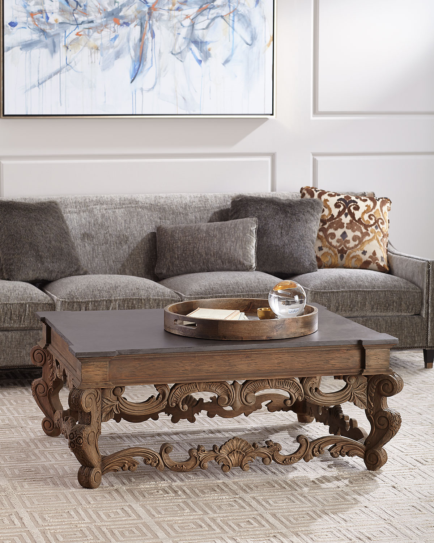 Darrius Faux Concrete Top Coffee Table Neiman Marcus
