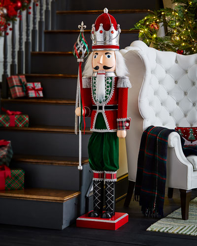 classic red green christmas decor at neiman marcus