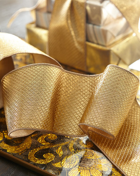 D. Stevens Diamond Metallic Metallic Holiday Ribbon