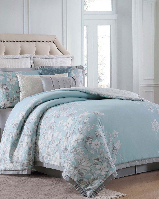 charisma molani 4 piece california king duvet cover set neiman marcus. Black Bedroom Furniture Sets. Home Design Ideas