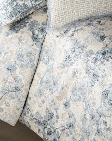 Fino Lino Linen & Lace Blossom Queen Duvet