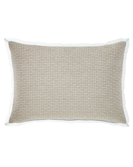 Fino Lino Linen & Lace Rizzoli Oblong Pillow