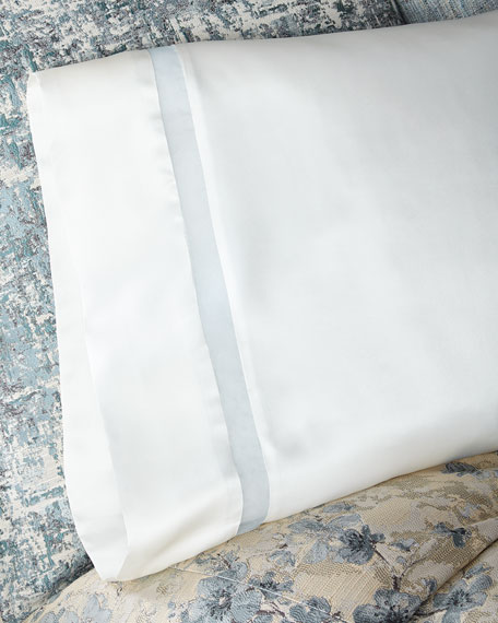 Amelia Charmeuse Silk King Pillowcase with Organza Inset