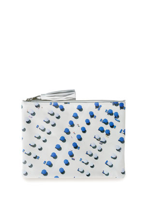 Gray Malin The Blue and White Umbrellas Pouch