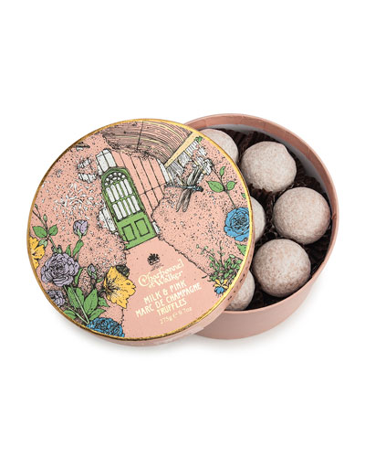 Summer House Milk and Pink Marc de Champagne Truffles