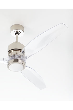 Sonet Polished Nickel Ceiling Fan, 52""