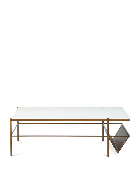 Galinda Marble-Top Coffee Table