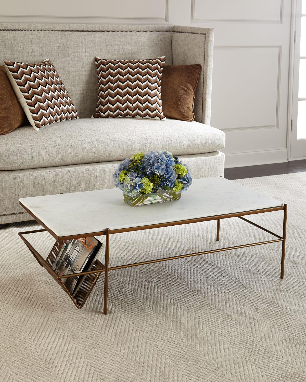 Galinda Marble Top Coffee Table Neiman Marcus