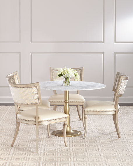 Chesney Marble-Top Bistro Table and Matching Items &