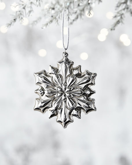 2018 Gorham Sterling Silver Snowflake Ornament - 49th Edition