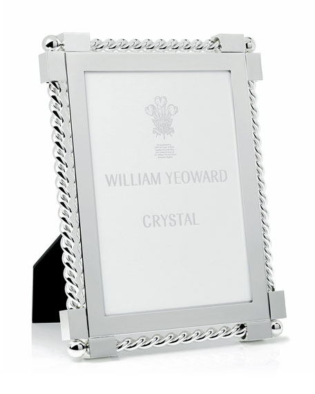 "Silver Twist Picture Frame, 5"" x 7"""