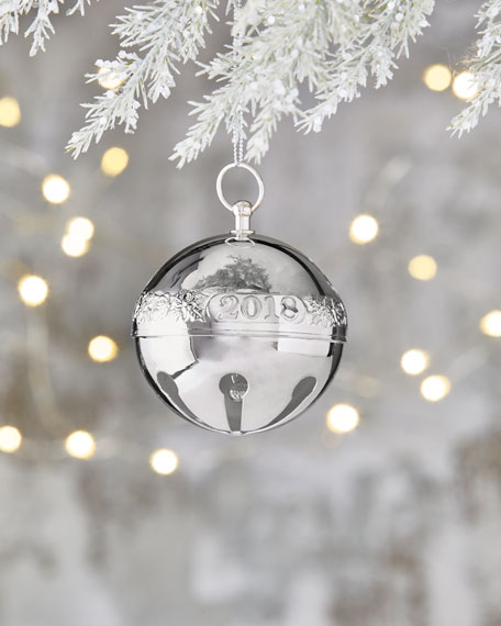Wallace 2018 Silver-Plated Sleigh Bell Ornament - 48th Edition