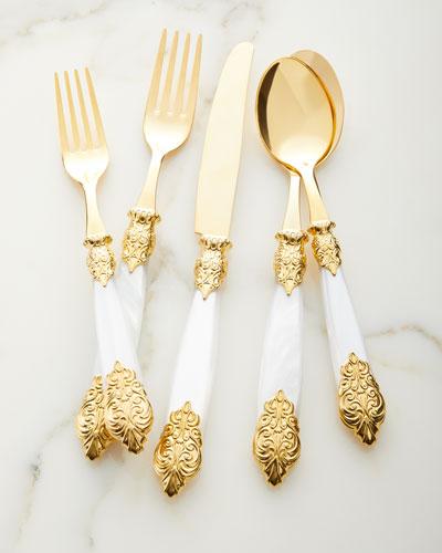 20-Piece Versailles Gold Flatware Service