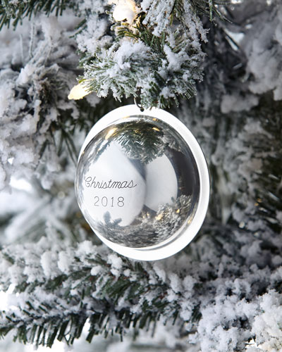 2018 Annual-Edition Sterling Silver Christmas Ornament