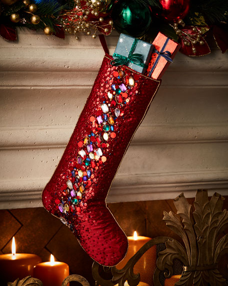 Spiritual Stocking with Bead Embellishment