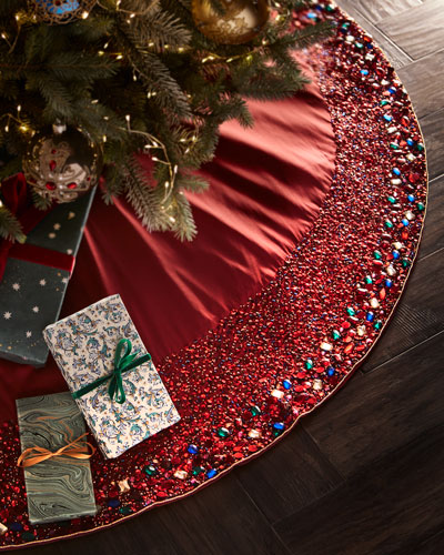 Spiritual Beaded Tree Skirt