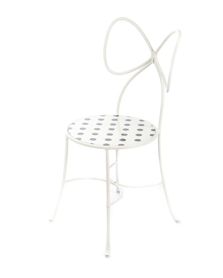 Bow-Back Dot Chair, White