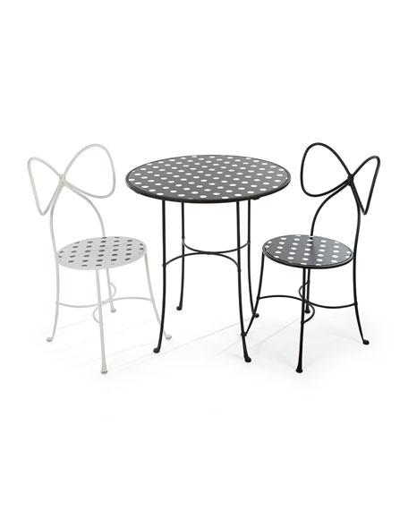 Bow-Back Dot Chair, Black