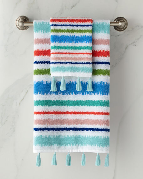 Jacquard Hand Towel with Tassels