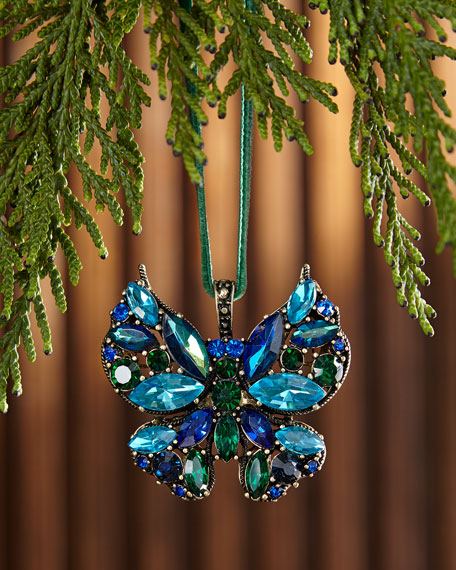 Mini Butterfly Hanging Christmas Ornament
