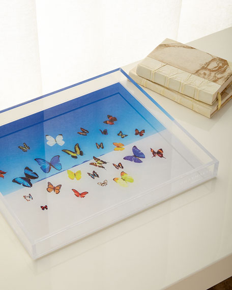 Premium Acrylic Butterfly Tray