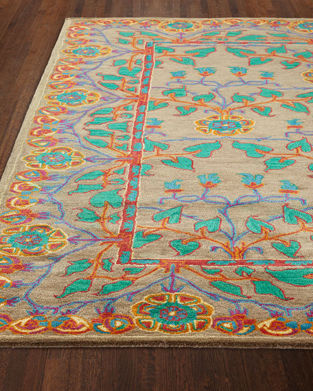 Alonso Hand-Tufted Rug, 5.6' x 8.6' and Matching