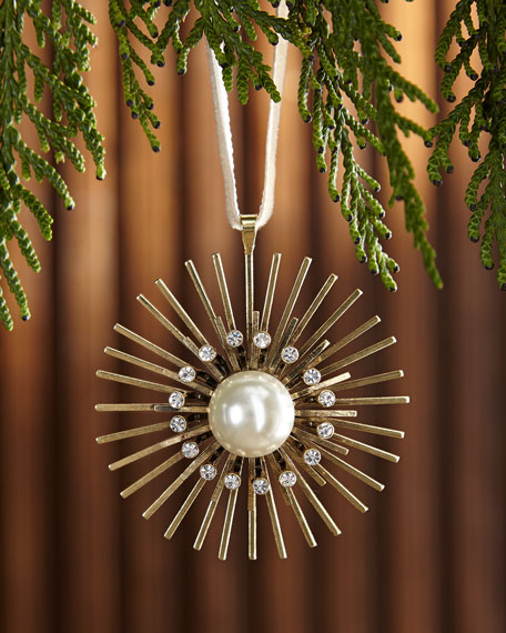 Joanna Buchanan Pearl Sputnik Hanging Christmas Ornament