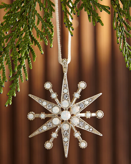 Deco Snowflake  Christmas Ornament