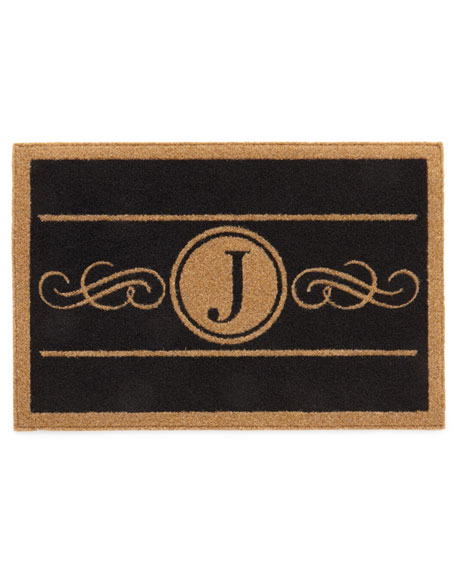 Custom Scroll Monogram Mat, 2' x 3'