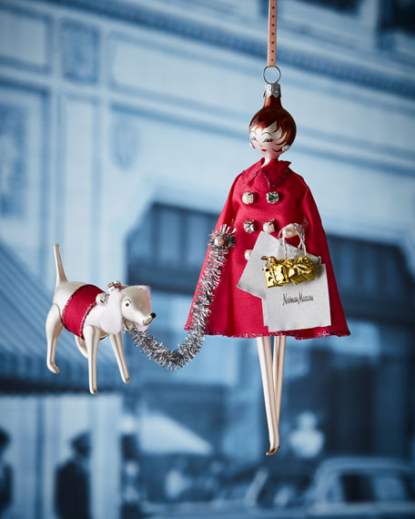 De Carlini NM Lady Shopper Christmas Ornament