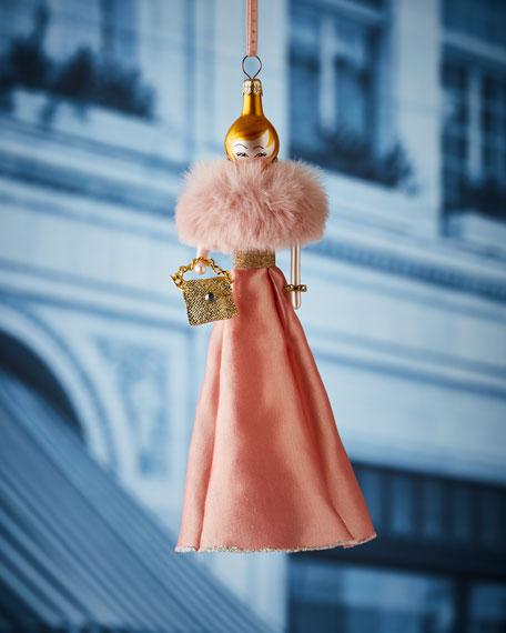 De Carlini Lauren in Pink Dress Christmas Ornament