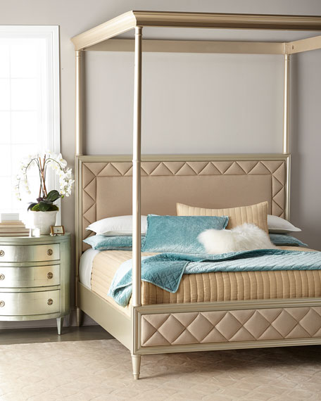 caracole Over the Top King Bed and Matching