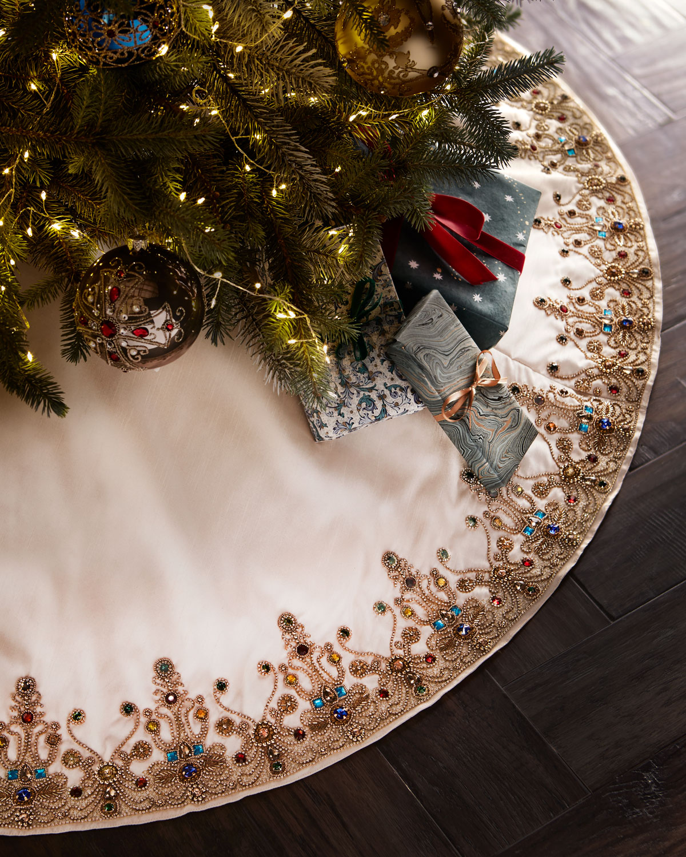Spiritual Christmas Tree Skirt | Neiman Marcus