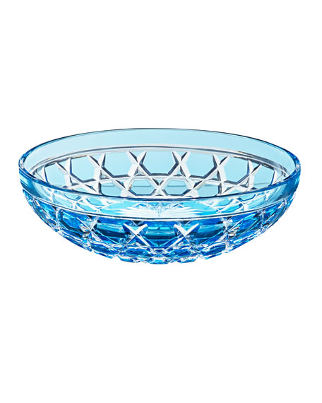 Saint Louis Crystal Royal Small Bowl, Sky Blue