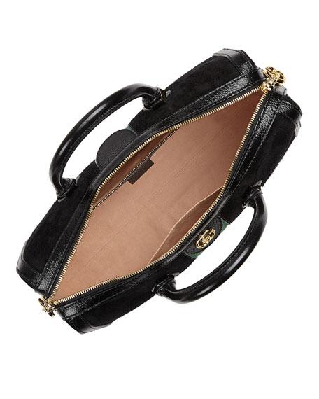 Ophidia Webbed Suede Duffel Bag