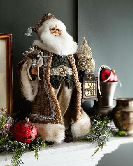 Karen Didion Originals Lighted Natural Elegance Santa