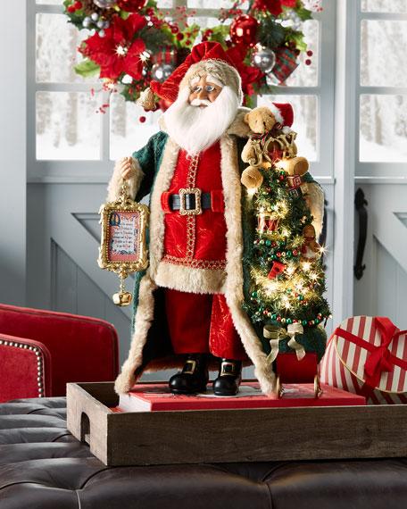 Karen Didion Originals Lighted Christmas Morning Santa