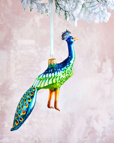 Peacock Christmas Ornament - 7