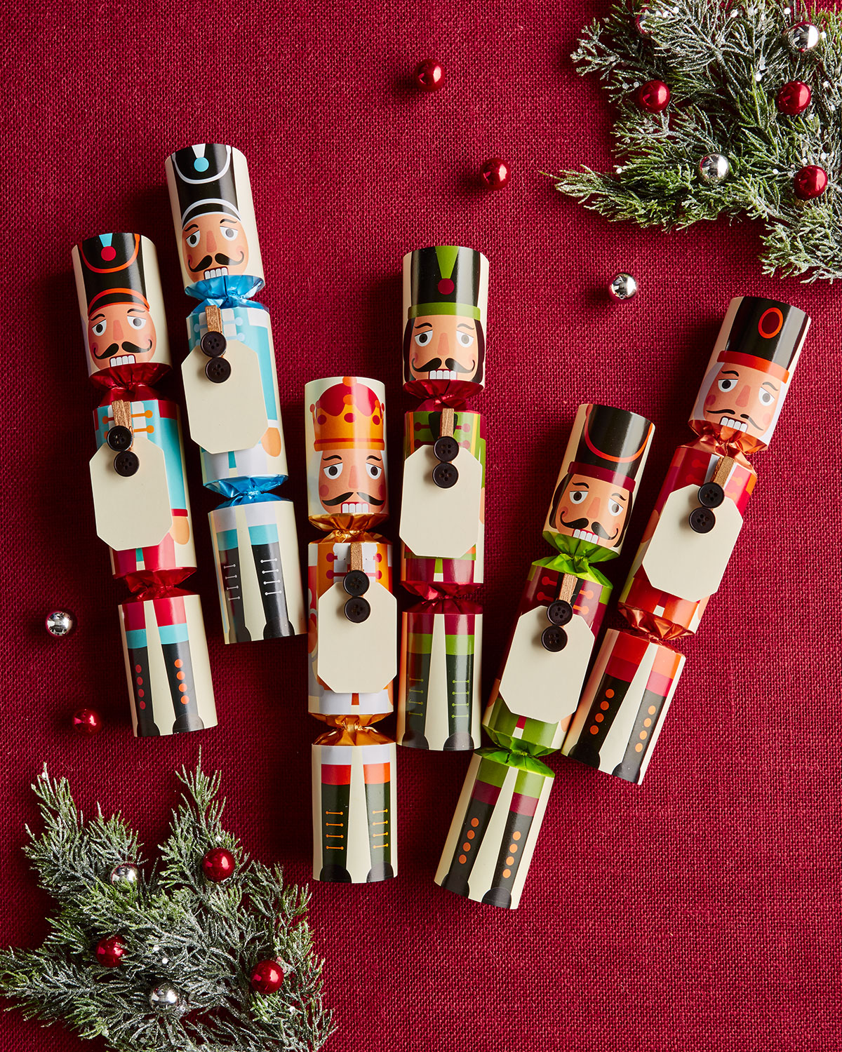 Robin Reed Nutcracker Christmas Crackers with Name Cards | Neiman Marcus