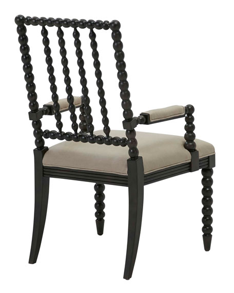 One-of-a-Kind Linen Arm Chair