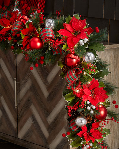 classic christmas prelit garland 72