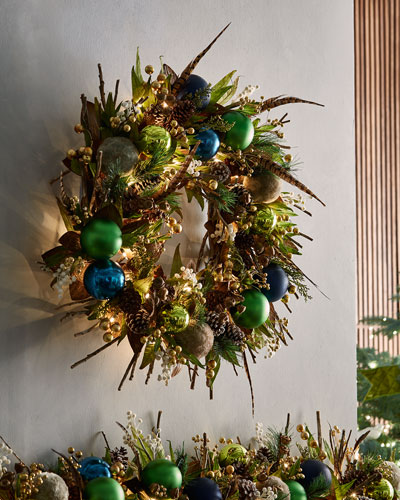 woodlands prelit wreath 28