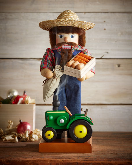 Farmer Nutcracker with Tractor
