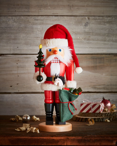 Santa Nutcracker with Toy Bag